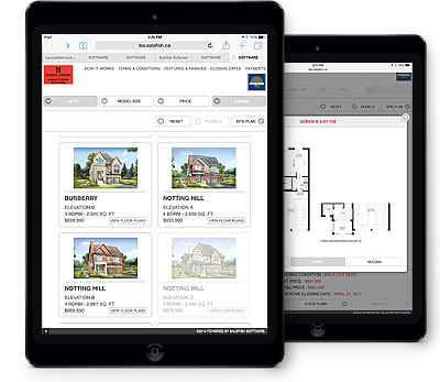Search for a Home feature on iPad